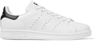 adidas Originals - Stan Smith Leather Sneakers - White $75 thestylecure.com