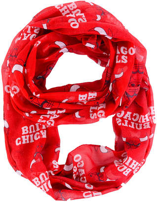 Forever Collectibles Chicago Bulls All Over Logo Infinity Wrap Scarf