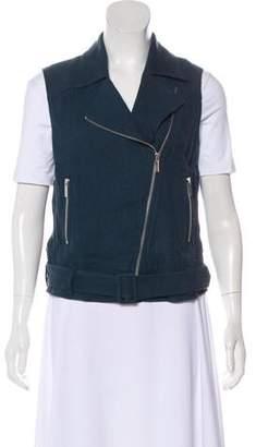 Elizabeth and James Zip-Up Linen Vest