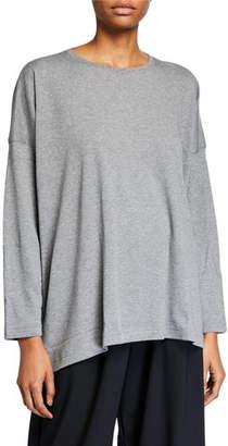 eskandar Long-Sleeve T-Shirt with Longer Back
