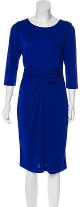 HUGO BOSS Boss by Gathered Knee-Length Dress