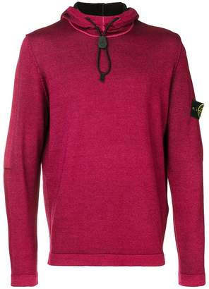 Stone Island drawcord hooded knit jumper