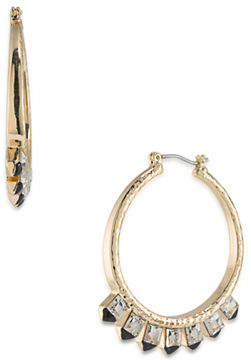 ABS by Allen Schwartz Crystal Spike Hoop Earrings