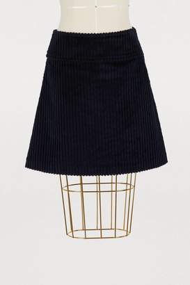 A.P.C. Wright velvet skirt