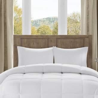 Bibb Home Microfiber Overfilled Down Alternative Comforter, Checkered White