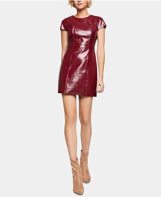 BCBGeneration Faux-Leather Sheath Dress
