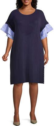 Spense Short Sleeve Shift Dress - Plus