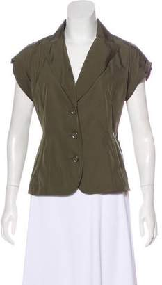 Lida Baday Peak-Lapel Short Sleeve Jacket