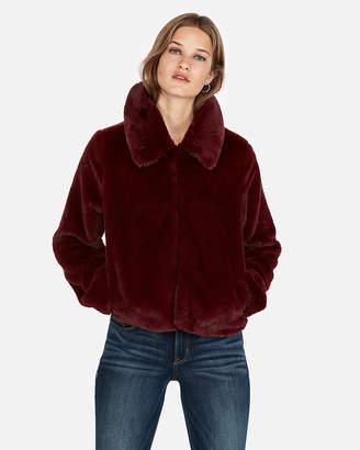 Express Petite Faux Fur Jacket