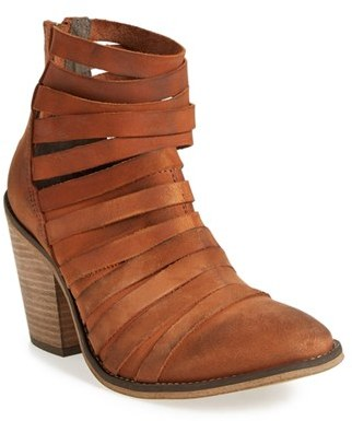 Women's Free People 'Hybrid' Strappy Leather Bootie