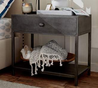 Pottery Barn Big Daddy's Antiques Metal Nightstand