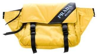 Prada Leather-Trimmed Tessuto Waist Bag