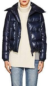 Sacai Women's Asymmetric-Zip Down Tech-Puffer Coat - Navy