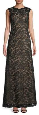 Tadashi Shoji Sleeveless Lace Gown