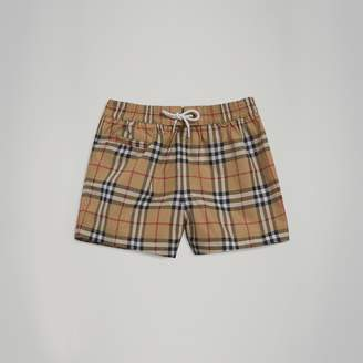 Burberry Check Swim Shorts , Size: 2Y
