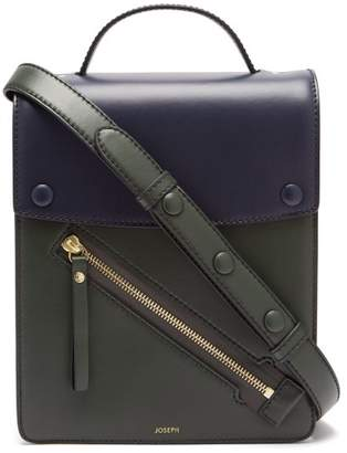 Joseph Kings Leather Cross Body Bag - Womens - Green Navy