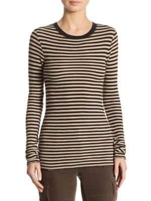 Vince Railroad Stripe Cotton Sweater