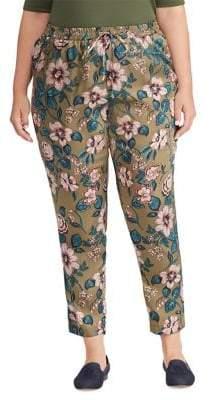 Lauren Ralph Lauren Plus Floral Twill Pants