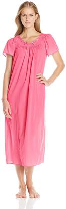 Miss Elaine Women's Tricot Long Nightgown