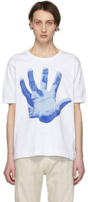 Dries Van Noten White Verner Panton Edition Hand Print Hassel T-Shirt