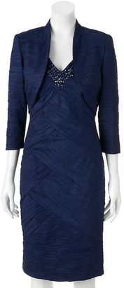 Women's Jessica Howard Spliced Sheath Dress & Bolero Jacket Set $290 thestylecure.com