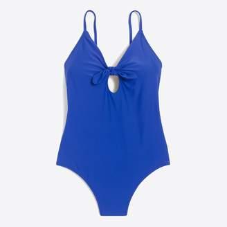 J.Crew Factory Tie-front one-piece swimsuit