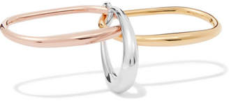 Charlotte Chesnais Faust Silver, Gold And Rose Gold Vermeil Ring - medium