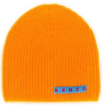Kenzo logo patch knitted beanie