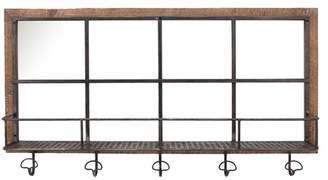 Sagebrook Home Wood/Metal Shelf & Hooks