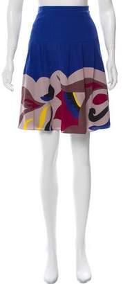 Temperley London Printed Silk Skirt
