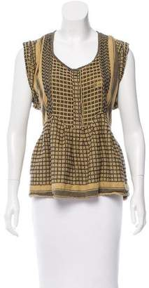 Isabel Marant Patterned Cap Sleeve Top