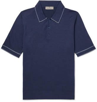 Canali Wool Polo Shirt