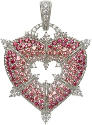 Judith Ripka Sterling & Diamonique Heart Enhancer