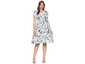 Unique Vintage Pleated Waldorf Swing Dress