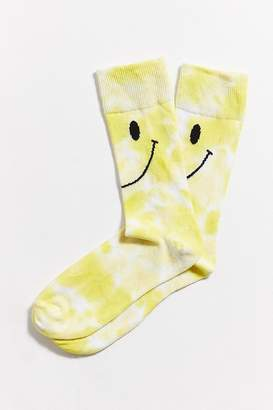 Urban Outfitters Tie-Dyed Smiley Sock