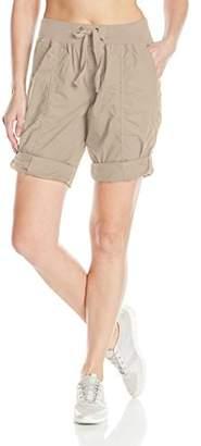 "Calvin Klein Women's Rib Waistband Convertible Cargo Bermuda Short 8""-12"" Inseam,XL"