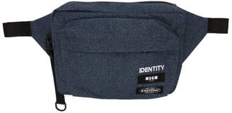 MSGM Blue Eastpak Edition Identity Belt Pouch