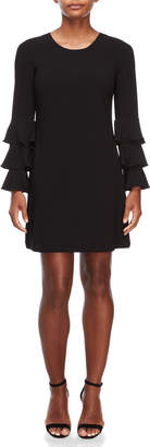 CeCe Tiered Ruffle Sleeve Dress