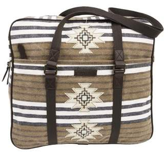 Wanderlust Ashton & Willow Aztec Brown Southwestern Handbags Ryn Tote Cotton Distressed Appearance Antique Brass Hardware Canvas Striped Tote