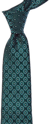 Canali Green Paisley Silk Tie