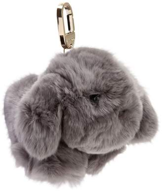 Dog Shaped Fur Keychain