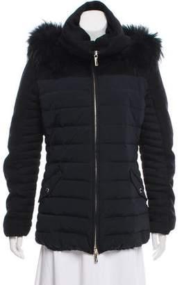 Baldinini Fur-Trimmed Down Coat