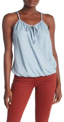 Love Stitch Wrap Front Top
