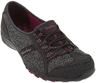 Skechers Knit Bungee Slip-ons - Save the Day $57 thestylecure.com