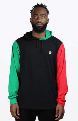 Cross Colours Colorblock Hooded Long Sleeve T-Shirt