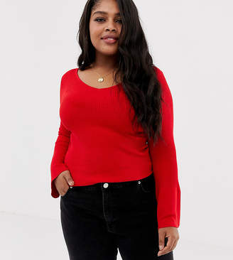 Brave Soul Plus zodiac sweater with flare sleeves