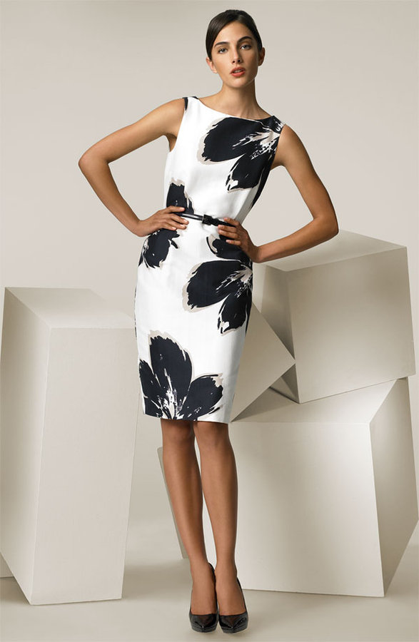 Max Mara 'Alabama' Floral Print Belted Dress