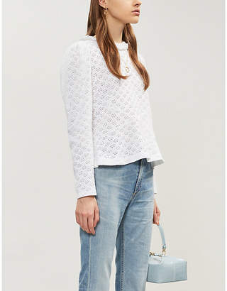 Claudie Pierlot Trinidad broderie-anglaise woven shirt