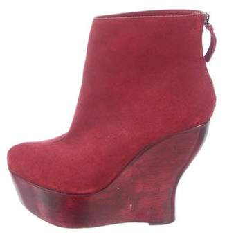 Alice + Olivia Suede Wedge Boots