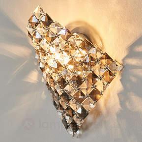 Aparte Wandleuchte Saten aus Kristall, 25 cm